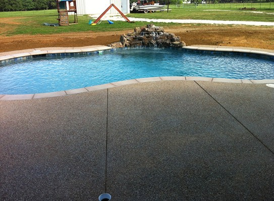 Nice pool with beautiful edge tiles