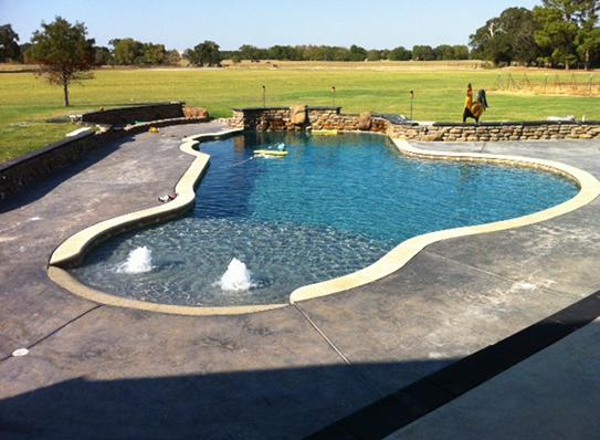 Custom In Ground Gunite Swimming Pool